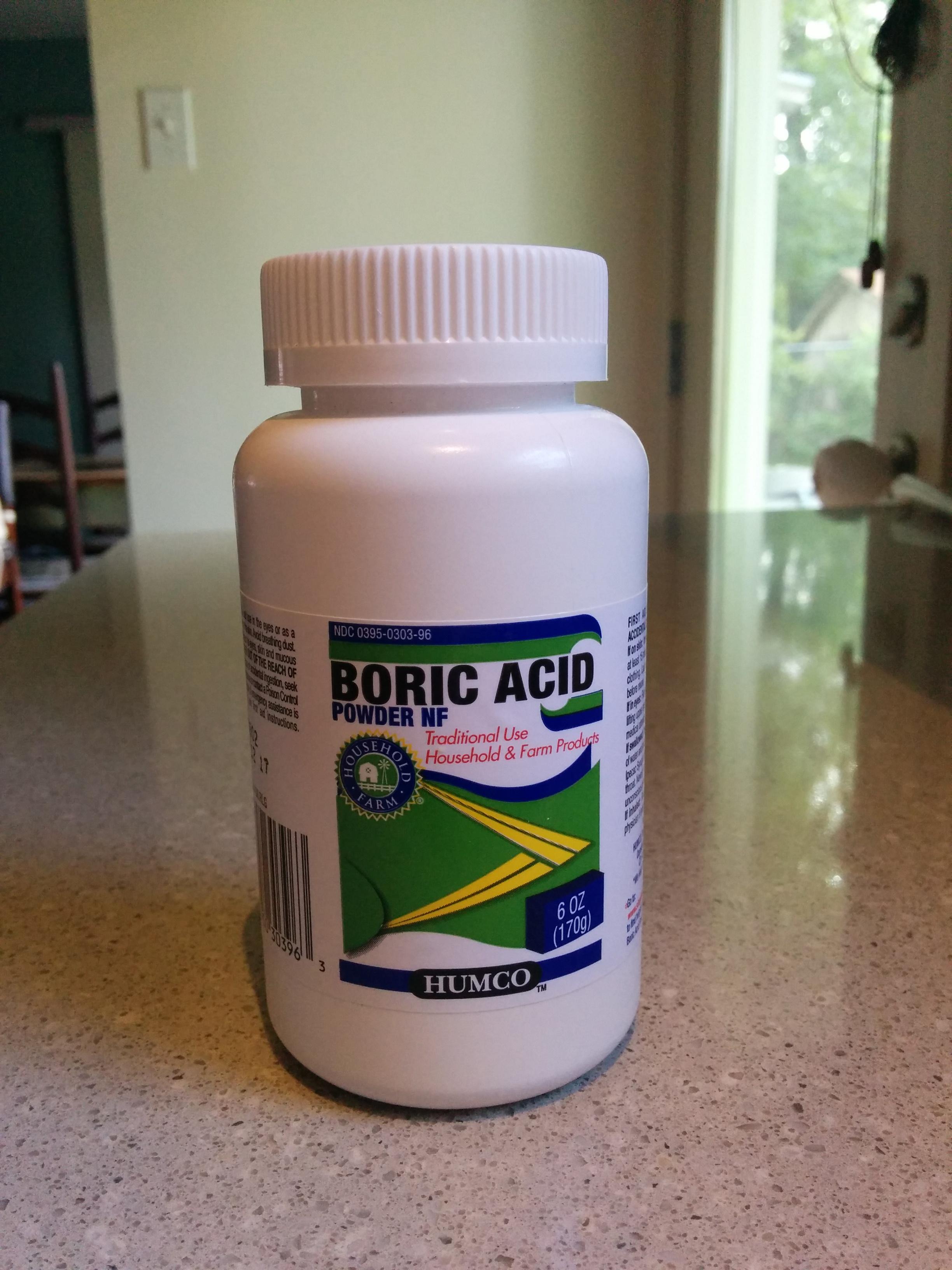 Boric acid douche